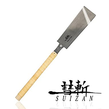 SUIZAN Japanese Pull Saw Hand Saw 9-1/2  Ryoba ( Double Edge ) for Woodworking