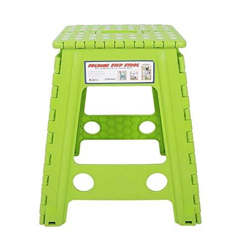 ASY Taburete de plástico Taburete de Paso Plegable portátil Taburete de Paso Alto Plegable Plástico Multiusos para Senderismo en Interiores Pesca (Color : Green)