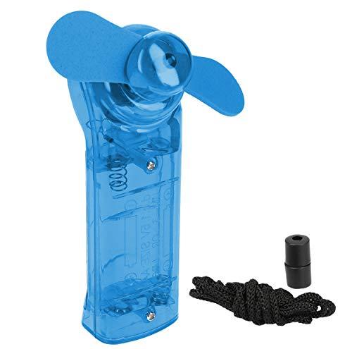 mumbi Handventilator Mini Hand Ventilator tragbar klein Miniventilator zum Umhängen in blau