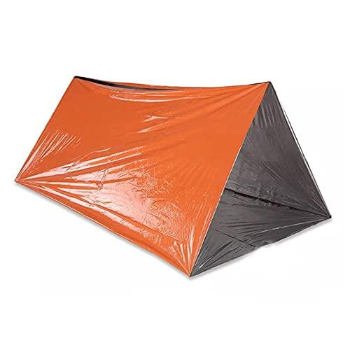 WNN-URG Supervivencia de la Emergencia Carpas, cobertizos Sola Vida con Cuerdas, Tiendas de Emergencia Ultra-Ligeros for Camping, Senderismo, etc URG (Color : Naranja)