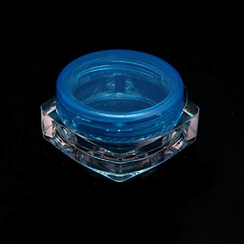 Lege monster containers, Driidudur 1 Stks Cosmetische Voorbeeld Lege Container Plastic Heldere Cosmetische Pot Potten voor Lip Glosses,Oogschaduw, Nagels, Poeder, Juwelen-Willekeurige Levering (blauw)