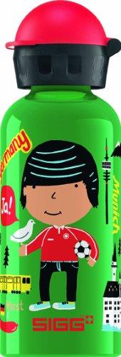 SIGG Travel Boy Germany Kinder Trinkflasche (0.4l), schadstofffreie Kinderflasche mit auslaufsicherem Deckel, schöne Wasserflasche aus Aluminium