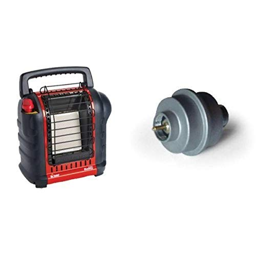 Mr. Heater F232000 MH9BX Buddy 4,000-9,000-BTU Indoor-Safe Portable Radiant Heater & Mr. Heater Fuel Filter for Portable Buddy and Big Buddy Heaters #F273699
