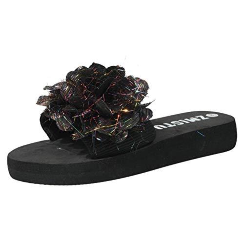 HUADUO Women's Pool Slide Sandal Womens Casual Flat Slide Sandals Soft Cozy Slip on Summer Shoes Non Slip Rubber Sole