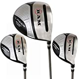 Ram Golf Laser Offset Graphite Wood Set 10.5° Driver 3 & 5 Wood Inc. Headcovers