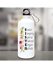 exciting Lives Special Sister Sipper Water Bottle 600ml, Set of 1, White