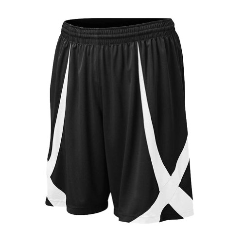 TOPTIE Men's Basketball Shorts, Flag football Shorts No Pockets, MMA Pro Shorts-Black-M