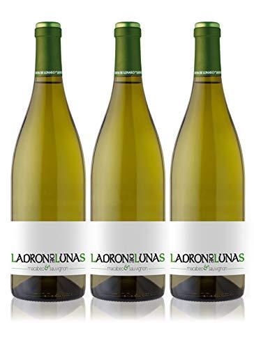 LADRÓN DE LUNAS Vino Blanco Sauvignon Blanc. D.O Utiel-Requena. 80% Sauvignon blanc, 20% Macabeo. Botella de 75 Cl (Pack de 3 Botellas)