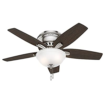 "Hunter Newsome Ceiling Fan with Light, 42""/Small"