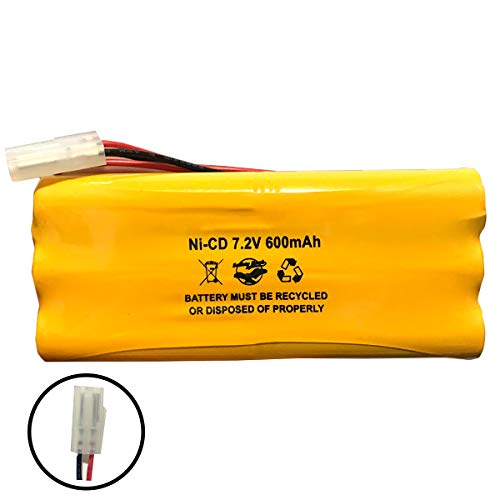 118-0017 Synergistic 1180017 Teledyne Big Beam 7.2v 600mAh Ni-CD Battery Pack Replacement for Emergency/Exit Light OSA026 OSI OSA-026