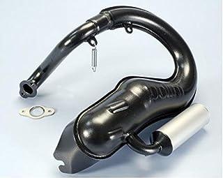 Auspuff Polini für Piaggio Vespa 125 Primavera ET3 Farbe Schwarz mit Schalldämpfer aus Aluminium komplett mit Krümmer und Dichtung