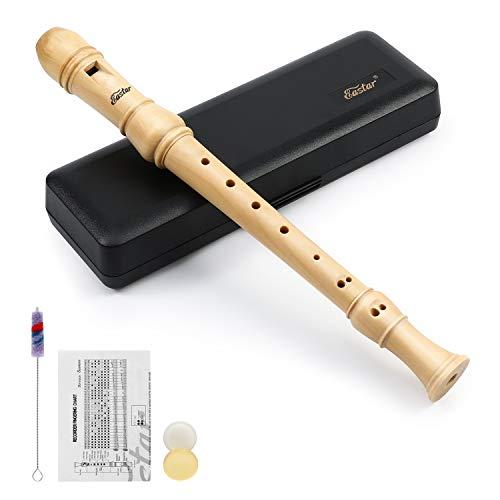 Eastar ERS-31BM Descant Recorder Wooden Recorder Baroque Style Soprano Recorder Set C Key 3 Piece Recorder Instrument Maple Wood
