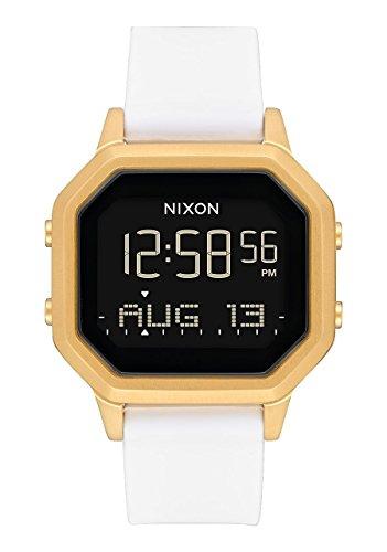 Nixon Damen Digital Smart Watch Armbanduhr mit Silikon Armband A1211-508-00