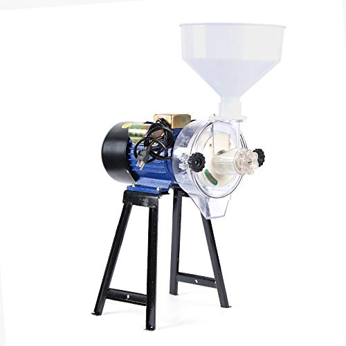 Electric Grain Mill Grinder Machine Grain Wheat Cereal Rice Corn Grain Coffee Wheat Feed Flour Grinding Miller Milling Machine Wet Cereals Grinder with Funnel (110V 2.2KW Wet Mill Machine) -  Eapmic