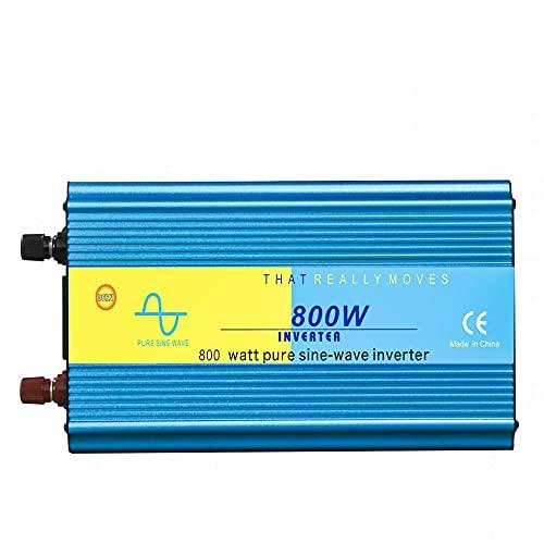 BJH Inversor de energía de Onda sinusoidal Pura, Salidas de CA Dobles de 800 W y Puerto de Carga USB, CC 12 V / 24 V a CA 110 V / 220 V, convertidor de batería con Pantalla Digital