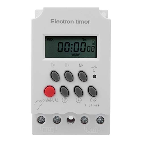 Interruttore timer elettronico 220VAC 30A , Interruttore timer elettronico intelligente microcomputer , Timer microcomputer di sicurezza domestica , per ascensori, industria dell'imballaggio
