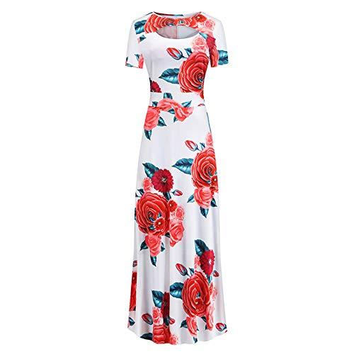 liulangzhe No1 Schwarz/Blau/GrüN/Grau/Rot/Weiß Damen Sommerkleid Elegant Vintage Cocktailkleid Kurzarm Kleider Unregelmäßiges Strandkleid