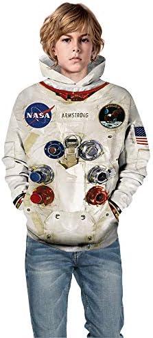 Tsyllyp Kids Astronaut Costume Childs Spaceman Uniform Space Hoodies Hooded Sweatshirt product image