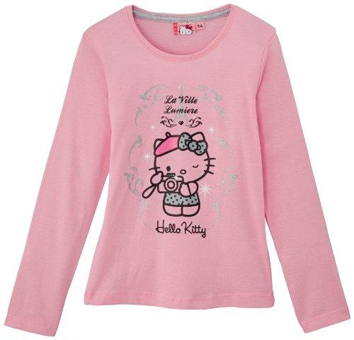 Hello Kitty - Maglietta, Manica Lunga, Bambina, Rose Clair (Rose), 8 Anni