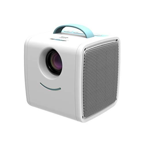 Cube Mini Beamer für Kinder, würfel Beamer Tragbar mit Fernbedienung, mit unterstützt 1080P Multimedia LED Heimkino und Fußball Spiel Spaß Kompatibel mit HDMI/TF/USB/AV, Tolle Geschenke für Kinder