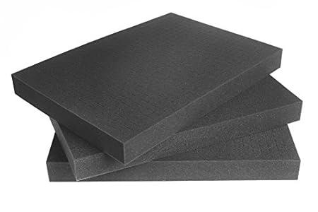Paneles de Goma Espuma en Cubos para maletin de Herramientas y Fundas para Cameras 500mm x 350mm x 45mm (Cantidad: Tres)