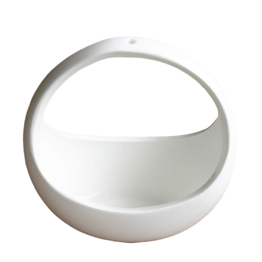 Forme Ronde//Plastique//Qualit/é Japonaise Fenteer Pot De Fleurs SUIBAN Ikebana Japonais Blanc 28cm