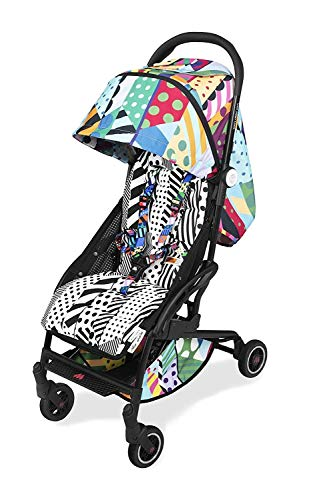 Maclaren Atom Jason Woodside compact flat fold lightweight stroller. Limited Edition. Newborn up to 25 kg, UPF 50+ extendable waterproof hood, reclining seat. Fits in airplanes. Accessories included
