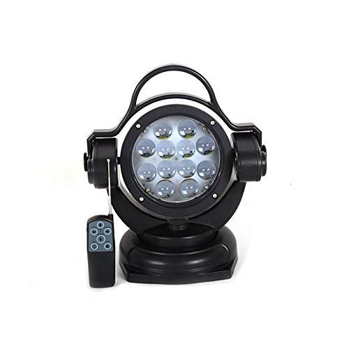 Tira de luz LED LED de Control Remoto Lluvia de búsqueda 360 ° Barco Giratorio Búsqueda Ligera Coche de Techo Carrupal de Crucero Luz de Trabajo Tira de luz