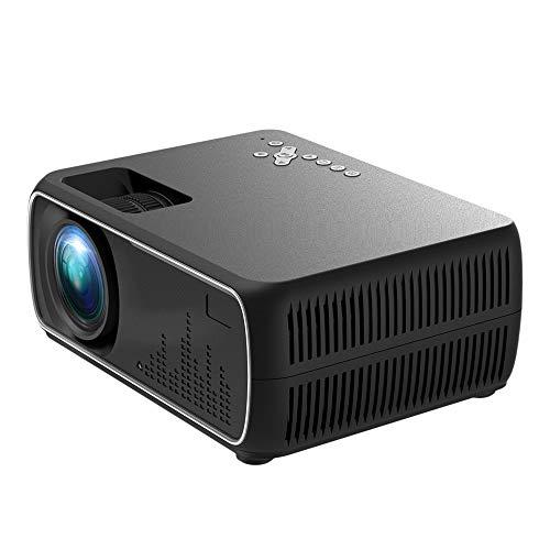 Luoshan Lin DH-A20 2200 Lumen 800 x 480 HD proyector Smart, Soporte VGA/HDMI/USB x 2 / AV/RCA de Audio, versión básica (Negro) (Color : Black)