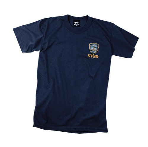 NYPD Embroidered Patch T-Shirt - Size: Adult X-Large - Color: Navy