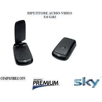 Trasmettitore TV e ricevitore wireless 5.8g MISy AV550 SD AV mittente fino a 500m con telecomando IR