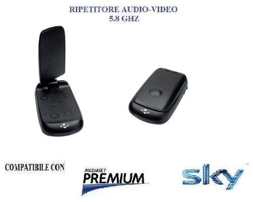GBC RIPETITORE AUDIO VIDEO SENDER 58700095 5,8Ghz, stereo, 7 canali di trasmissione, con ripetitore telecomando