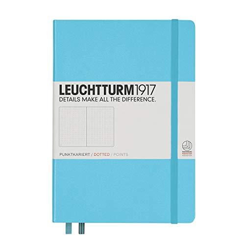 LEUCHTTURM1917 (357482) Carnet Medium (A5) couverture rigide, 251 pages numérotées, pointillés, ice blue