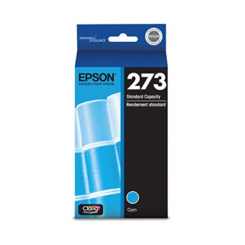 EPSON T273 Claria Ink Standard Capacity Cyan Cartridge (T273220-S) for Select Epson Expression Premium Printers