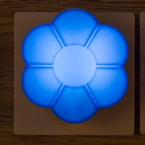 Veilleuse Mignon Coloré Plum Blossom Petit Chaud LED Night Light Control Cadeau Veilleuse Insérer Électrique Décoration Maison Bébé Chambre Lampe Bleu