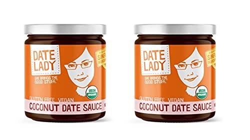 Organic Date Coconut Sauce | Vegan, Paleo, Gluten-free & Kosher (2 Jars) | Use as a sugar substitute in coffee, on your pancakes or plain greek yogurt!