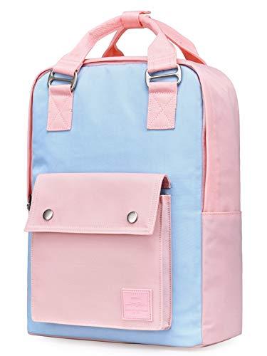 HotStyle BASIC PACKS EST. 2010 ARROSA 14 Zoll Rucksack für Frauen und Mädchen, modische Laptop-Tasche, süß für Arbeit, Reisen, College, mit 10 Taschen, Puder/Rosa