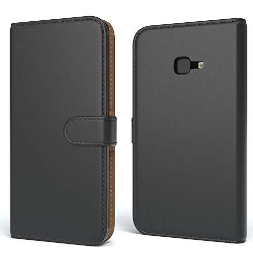 EAZY CASE Tasche kompatibel mit Samsung Galaxy Xcover 4 Schutzhülle mit Standfunktion Klapphülle Bookstyle, Handytasche Handyhülle mit Magnetverschluss & Kartenfach, Kunstleder, Schwarz