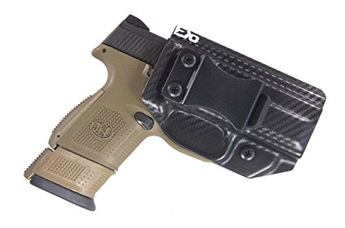 Fierce Defender IWB (Inside Waistband) Kydex Holster FN FNS 9 Compact Winter Warrior Series (Carbon Fiber)
