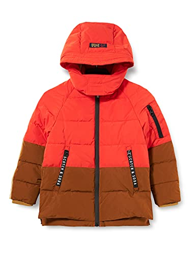 Scotch & Soda Shrunk Waterepellent Recycled Poly Jacket with Repreve Filling Piumino Lungo, Combo M 0592, 16 Bambino