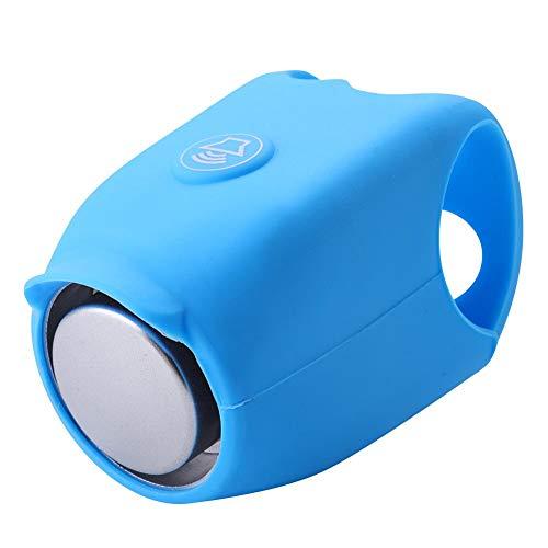 Campanello Elettrico per Bicicletta Allarme Manubrio in Silicone 120 Db per Ciclismo All'aperto Accessori di Campanello per Bici(1PC Blu)
