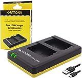 Bundlestar Cargador Dual 1950 para batería Panasonic DMW BLG10 E a Panasonic Lumix DC TZ91 DMC TZ101 TZ81 GF6 GX7 GX80 LX100 S6