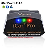 vgate iCar Pro Bluetooth 4.0 (BLE) OBD2 Fault Code Reader OBDII Code Scanner Car Check Engine Light iOS iPhone iPad/Android