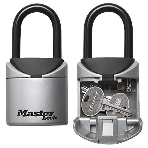 Master Lock Mini Caja Fuerte para Llaves [tamaño XS] -5406EURD-Caja de Seguridad con Arco, Ideal para Viajes, Vacaciones o sesiones Deportivas