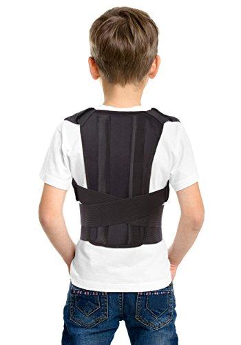 Corrector postural; soporte para espalda; para niños y adolescentes, jóvenes y adultos X-Small Negro