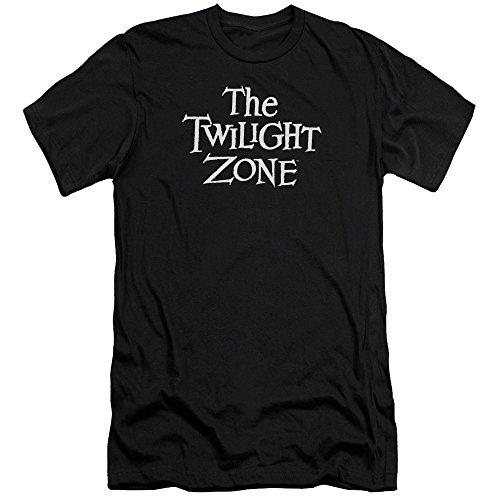 Twilight Zone Camiseta slim adulto com logotipo CBS da série TV, Preto, XG