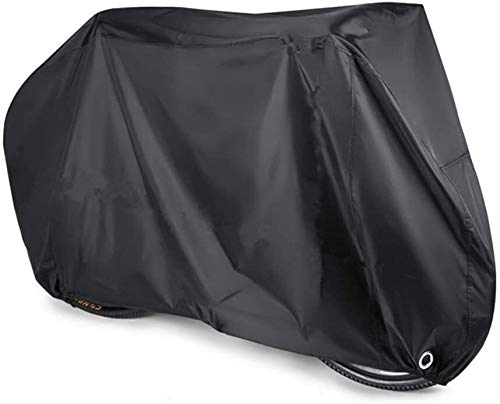 ZWXDMY Comfortable Bike Covers 190T Polyester Material Waterproof Portable Lightweight for Outside Indoor Storage Bikes Heavy Duty Bicycle Cover Anti Dust Rain UV Protection- Black (Size : X-Large)
