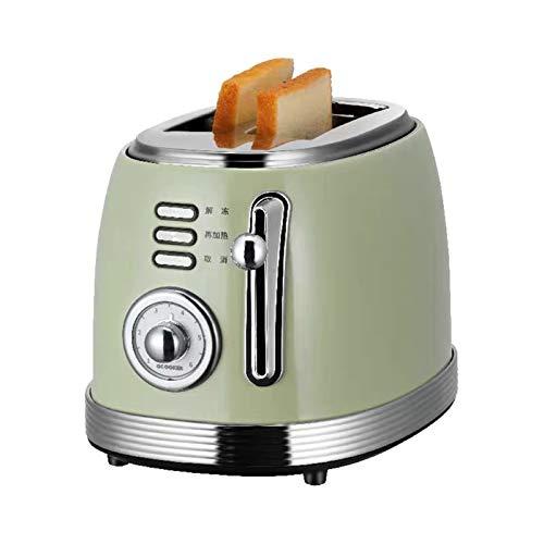 WANGYIYI Cocina Tostadoras Retro Mini Desayuno Tostadora a la Parrilla Casa Home Automatic Toast Sandwich Machine Automático Desayuno Tostadora