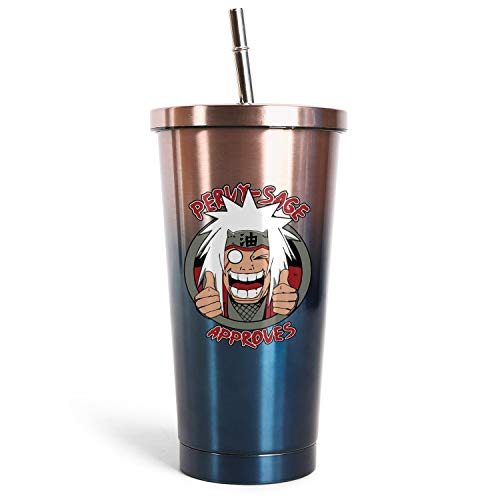 Naruto shippuden Anime Jiraiya Insulated Stainless Steel Tumbler Cups Reusable Straws Mug Naruto Water Bottle