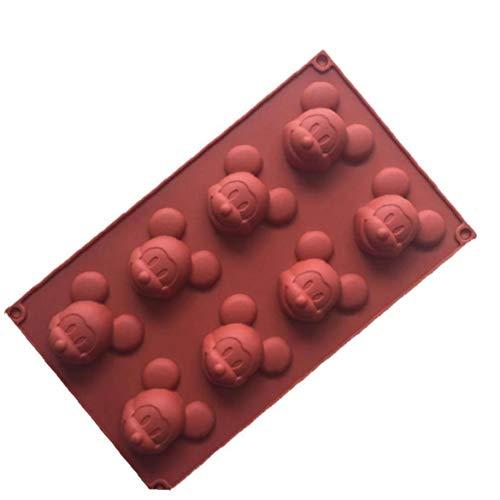 Bongles 8 Cavity Mickey Mouse-Kuchen-Form DIY Soap-EIS-Form-Silikon-Form Für Süßigkeit Schokolade Bakeware-Form (Zufällige Farbe)